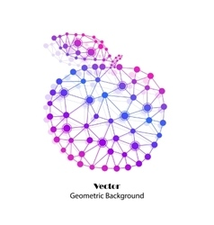 Colorful apple made of connected dots vector image