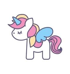 Cute fantasy unicorn icon vector image vector image