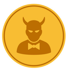 Devil gold coin vector