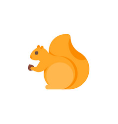 Flat style of squirrel vector