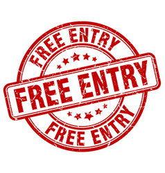 free entry stamp vector image vector image