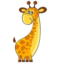 Giraffe Cartoon african wild animal character vector image vector image