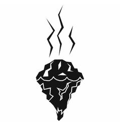 Glacier melting icon simple style vector