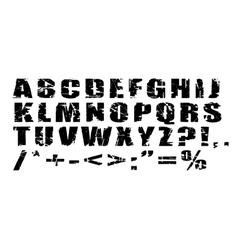 Grunge alphabet vector