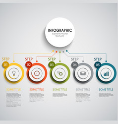 Info graphic with colorful round design vector