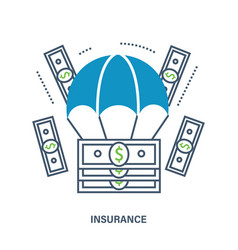 insurance services concept of vector image