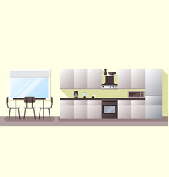 Kitchen and dining room vector