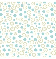 Light floral patetrn vector image vector image