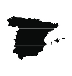 Map of Spain simple icon vector image