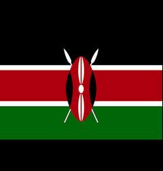 national flag of kenya vector image