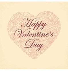Postcard for day saint valentine vector