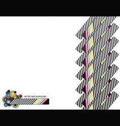 retro end lines vector image vector image