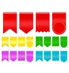 ribbon tags vector image
