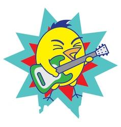 Rock and roll bird vector