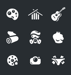 Set of art icons vector