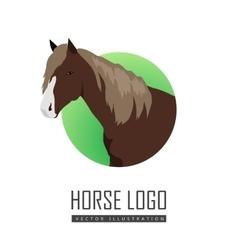 Sorrel horse logo vector