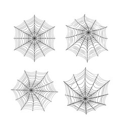 Spider web silhouette set vector