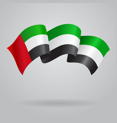 United Arab Emirates waving Flag vector image vector image