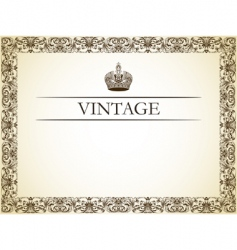 vintage frame decor vector image
