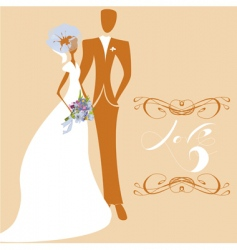 wedding card with inscription love vector image vector image