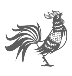 Year rooster chinese calendar pictogram vector