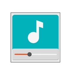 Music note in player icon vector