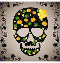 Cheerful background with a skull vector