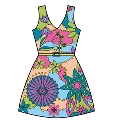 Dress colorful vector image