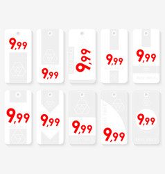 rectangle sale tags set ten rectangle white vector image
