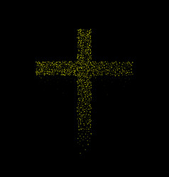 Abstract golden cross vector