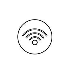 Wifi line icon mobile sign and hotspot vector