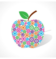 Group of gear make a apple vector