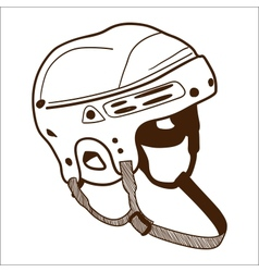 Hockey helmet isolated on white vector