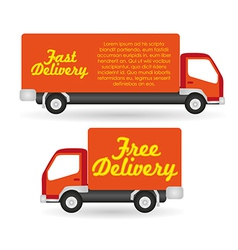 Truck fast and free delivery vector