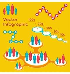 Demographic infographic for presentation vector
