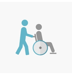 Disability flat icon vector