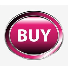 Shiny round buy button vector
