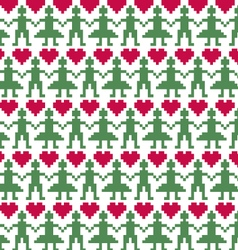 Nordic people seamless pattern vector