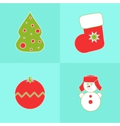 Christmas icons on a blue background vector