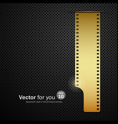 Camera film roll gold background vector