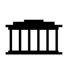 Court building isolated icon design vector