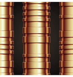 Copper pipeline seamless background vector