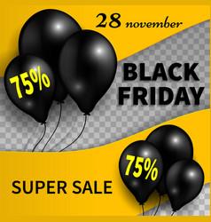 black friday bannerblack friday sale design vector image vector image