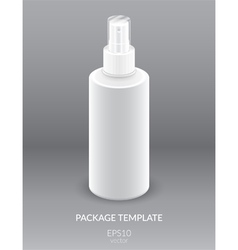 Blank cosmetic container vector