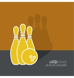 Bowling abstract background vector