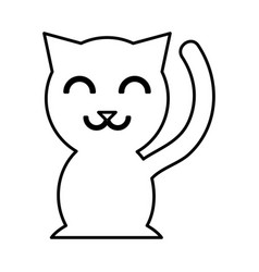 chinese cat lucky icon vector image