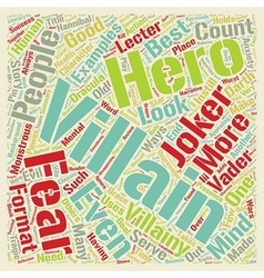 Classic villainy text background wordcloud concept vector