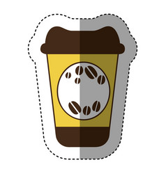 Color coffee drink food icon vector