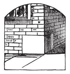 Corner-stone foundation edifice vintage engraving vector