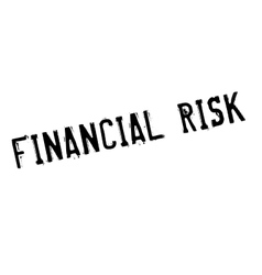 Financial risk rubber stamp vector